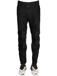 Balenciaga Technical Motorbike Pants W Logo Black