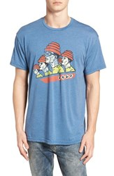 Retro Brand Devo Graphic T Shirt Heather Blue