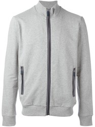 Bikkembergs Logo Embroidered Hooded Jacket Grey