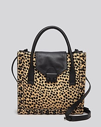 Loeffler Randall Crossbody Junior Work Tote Cheetah Print Calf Hair