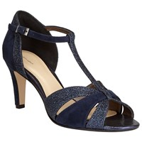 John Lewis Dorothy Occasion Cone Heeled Sandals Navy