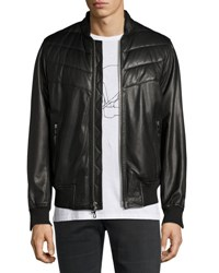 Rag And Bone Gallagher Leather Bomber Jacket Black