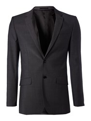 Kenneth Cole Men's Wool Mohair Suit Jacket Charcoal