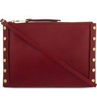 Sandro Abby Leather Pochette Rouge