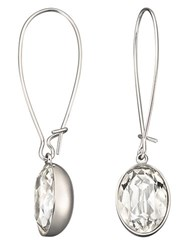Swarovski Puzzle Crystal Earrings Silver