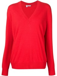Tomas Maier V Neck Sweater Red
