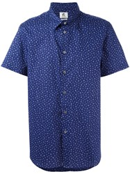 Paul Smith Ps By Cactus Print Shortsleeved Shirt Blue