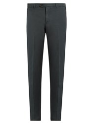 Brunello Cucinelli Casual Cotton Chino Trousers Dark Grey