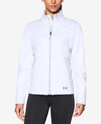 Under Armour Coldgear Infrared Soft Shell Jacket White Glacier Grey