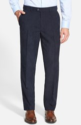 Men's Big And Tall Linea Naturale 'Micro Air' Wrinkle Resistant Microfiber Corduroy Pants Navy
