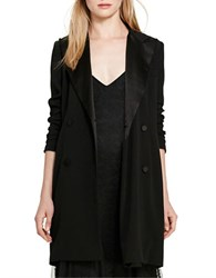 Polo Ralph Lauren Crepe Double Breasted Jacket Polo Black