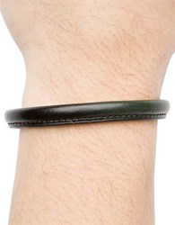 Hook Albert Leather Bangle Bracelet Green