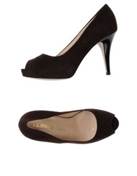 Femblu J'adore Pumps With Open Toe Dark Blue
