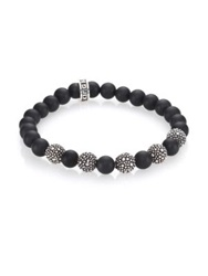 King Baby Studio Black Onyx And Sterling Silver Bracelet Silver Black