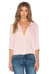 Bella Dahl Shirt Tail Button Up Pink