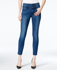 Guess 1981 Lace Up Cropped Skinny Brockett 2 Wash Jeans