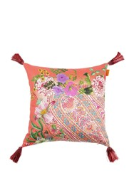 Etro Camlleia Printed Cotton Pillow Multicolor