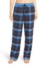 Dkny Women's Plaid Pajama Pants Peacoat Heather Plaid