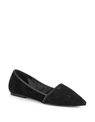 Charles By Charles David Betty Suede Flats Black