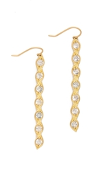 Jamie Wolf Aladdin Dangle Topaz Earrings Gold