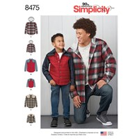 Simplicity Men's And Boys' Shirt Jacket Sewing Pattern 8475