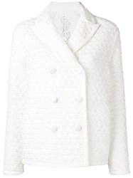Ermanno Scervino Quilted Peacoat White