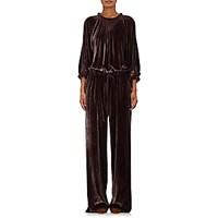 Ulla Johnson Women's Sephare Velvet Jumpsuit Red