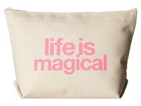 Dogeared Life Is Magical Lil Zip Natural Pink Handbags
