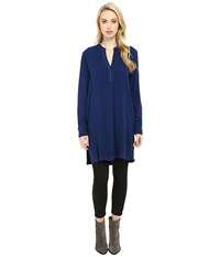 Three Dots Alessandra Oversized Tunic Blue Depths Women's Clothing