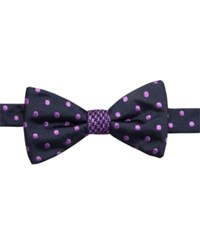 Countess Mara Houndstooth Dot Reversible To Tie Bow Tie Purple