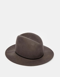 Catarzi Wide Brim Fedora Hat Grey