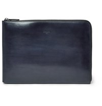 Berluti Gloria Polished Leather Portfolio Blue