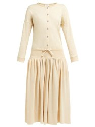 Christophe Lemaire Cotton Jersey Dress Beige