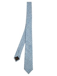 Valentino Polka Dot Jacquard Linen And Silk Blend Tie Blue Multi