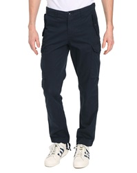 Schott Nyc Navy Poplin Fitted Cargo Trousers