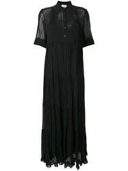 Zadig And Voltaire Long Sheer Dress Black
