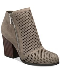 Bar Iii Penny Block Heel Booties Only At Macy's Women's Shoes Nimbus Grey