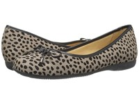 Trotters Sante Grey Cheetah Women's Slip On Shoes Clear