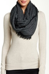 14Th And Union Textured Infinity Scarf Black