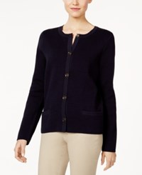 Charter Club Pocketed Cardigan Only At Macy's Deepest Navy