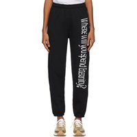 Ashley Williams Black 'Where Will You Spend Eternity ' Lounge Pants
