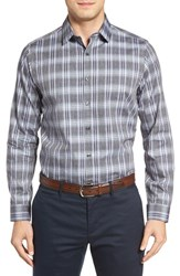 Robert Barakett Men's Alphonse Plaid Sport Shirt