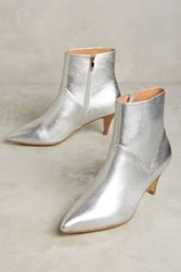 Anthropologie Matiko Autumn Ankle Boots Silver