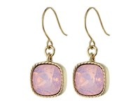 Nina Perla Opal Crystal Drop Earrings Gold Rose Water Opal Swarovski Earring Pink