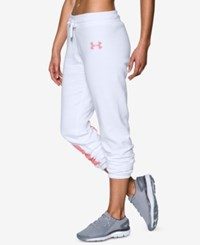 Under Armour Favorite Fleece Sweatpants White Pomegranate