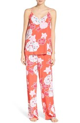 Josie Women's Enchanted Garden Pajamas Coral Island