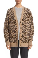 Alexander Wang Women's Leopard Wool And Cashmere Cardigan
