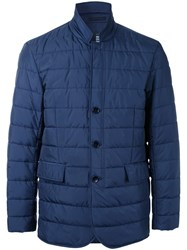 Kent And Curwen Padded Button Front Jacket Blue