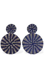 Mercedes Salazar Two Suns Clip On Earrings Blue