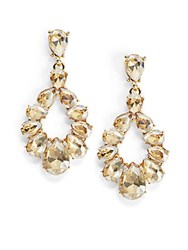 Cara Goldtone Pear Drop Earrings